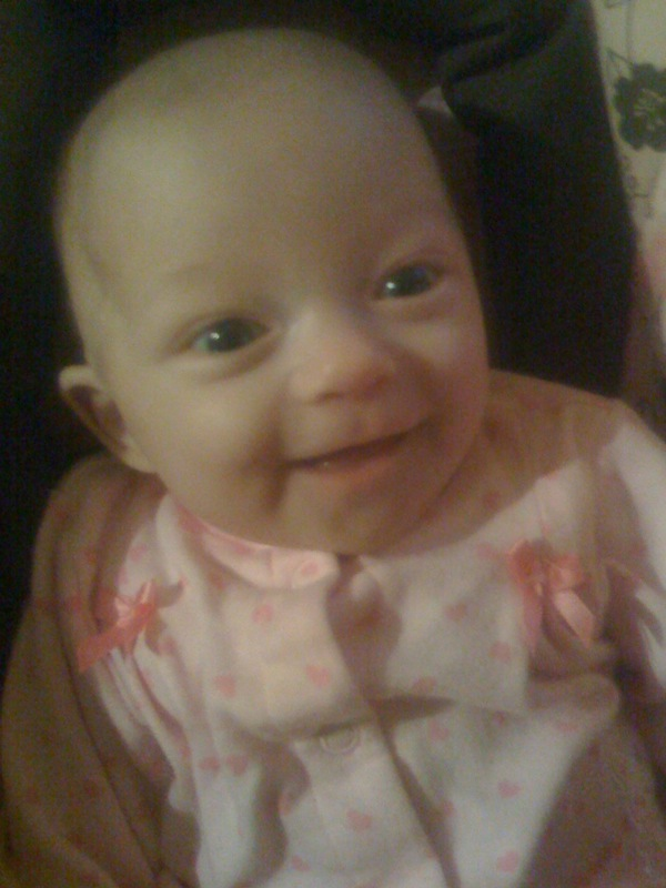 Smiling at Daddy
